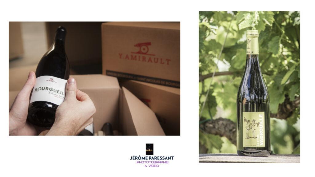 Photographies de bouteille par Jérôme Paressant, photographe professionnel basé à Saumur..
